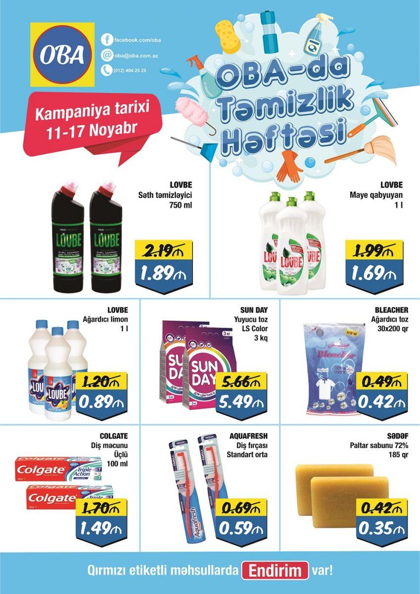 Oba Marketlərdə Endirimli Təmzilik Həftəsi Kampaniyasi Baslayib Banco Az