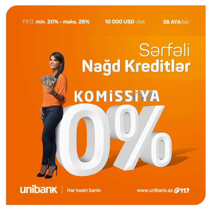 Unibankdan 0% komissiyalı kreditlər