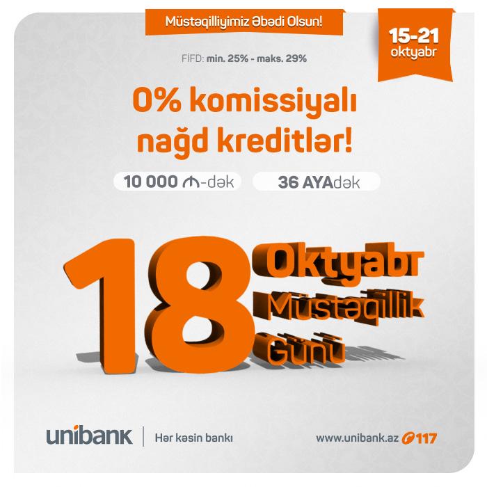 Unibankdan növbəti hədiyyə