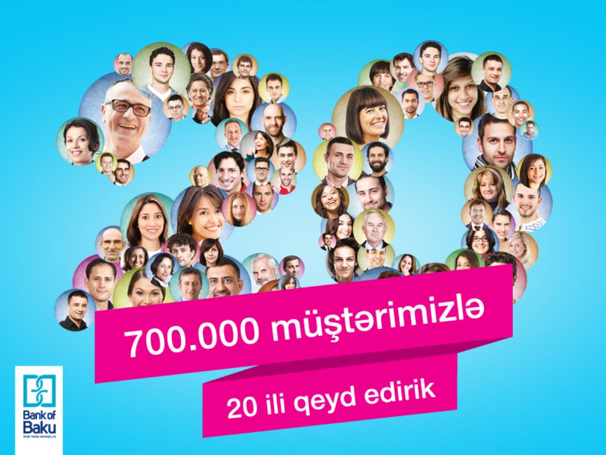 """""""Bank of Baku""""-nun müştərilərinin sayı 700.000-ə çatıb!"""
