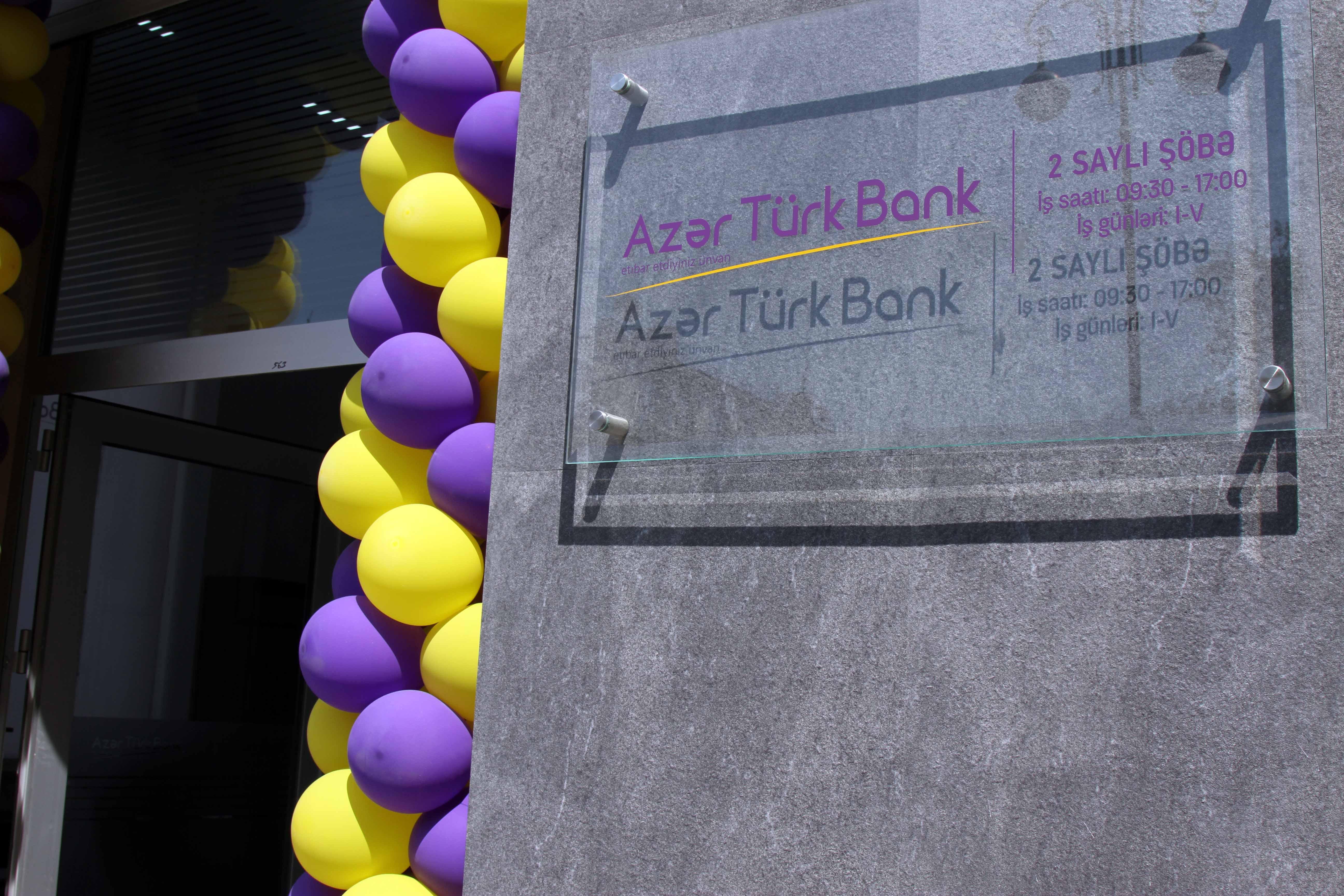 Azər Türk Bankın daha bir şöbəsi müştərilərin xidmətinə verildi