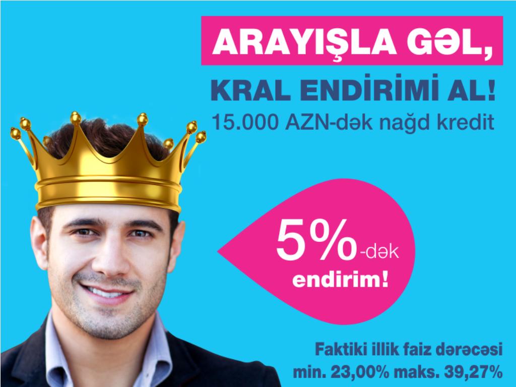 """Bank of Baku"" –dan ""Arayışla gəl, 5%-dək kral endirimi al!"" kampaniyası!"
