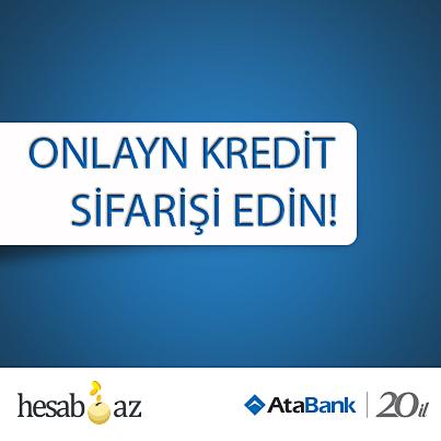 АтаБанк предлагает очередное новшество на сайте  Hesab.az.