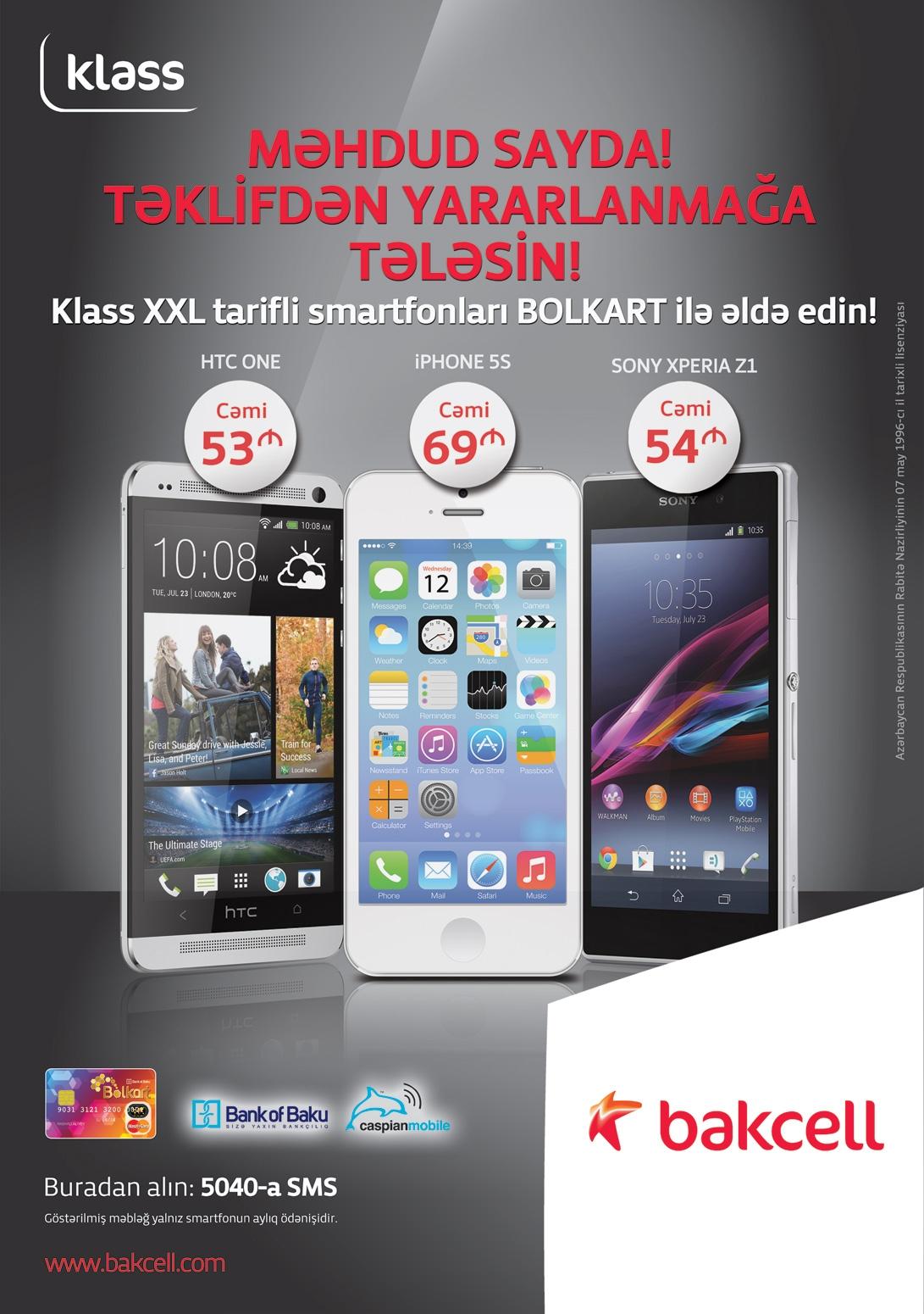 """Bank of Baku""-dan kampaniya: Smartfonlar ayda 53 manatdan!"