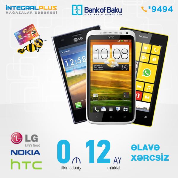 Bolkart ilə 12 aya əlavə xərcsiz HTC,Nokia və LG telefonları!