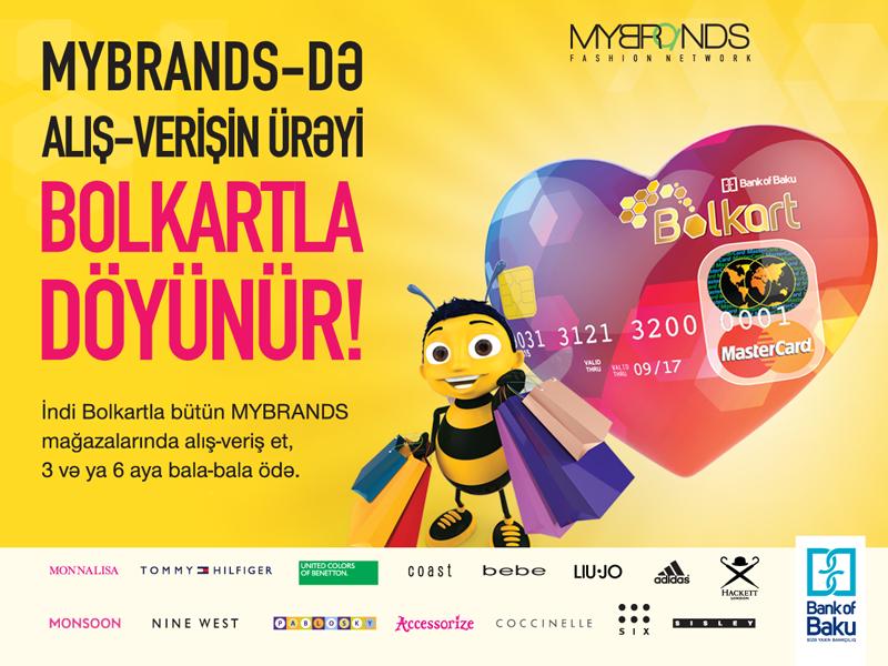 Artıq Bolkartlılar Mybrand's şəbəkəsinin bütün mağazalarında alış-veriş edəcək!