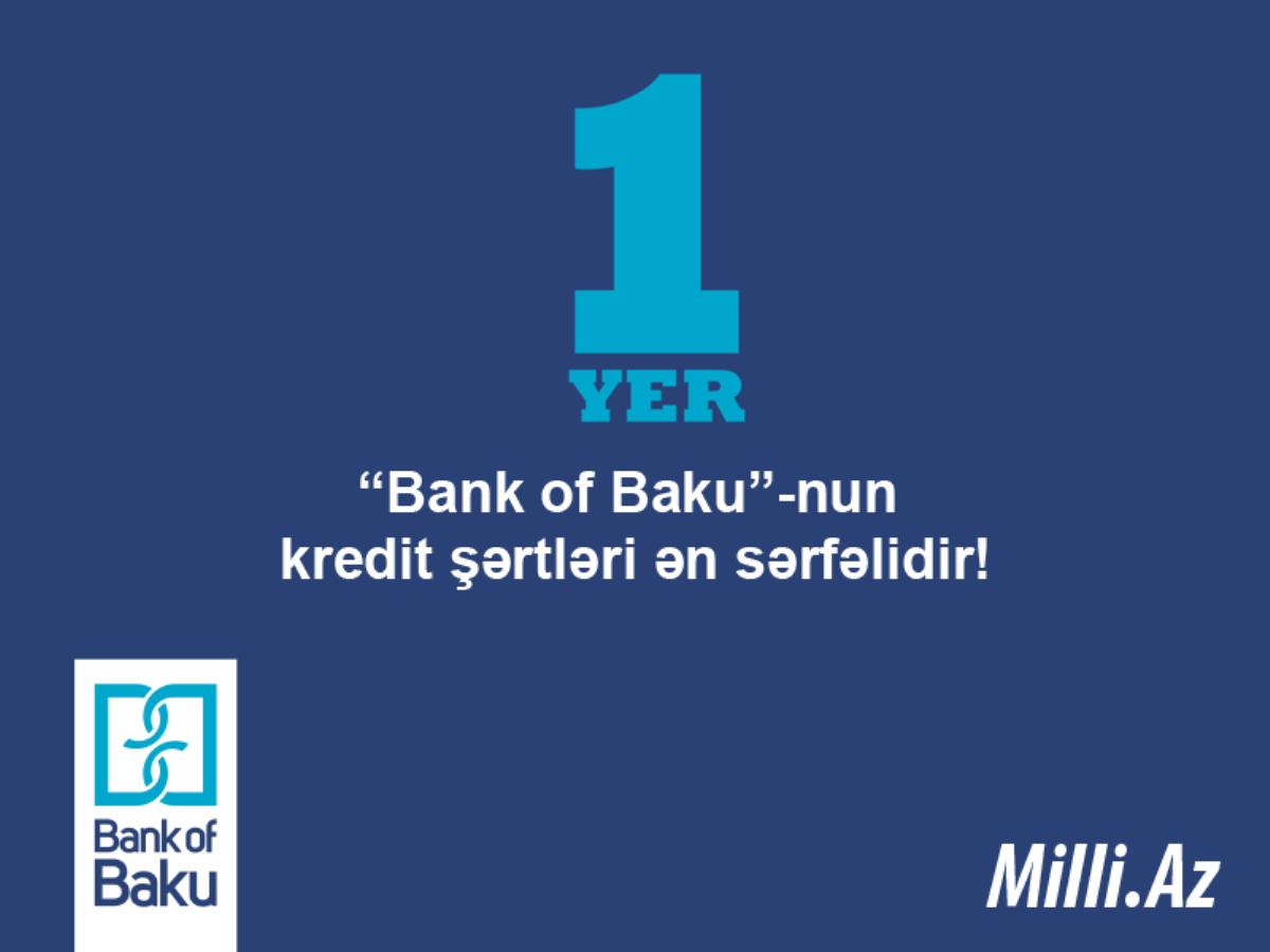 """Sorğu nəticələri: """"Bank of Baku""""-nun kredit şərtləri ən sərfəlidir!"""