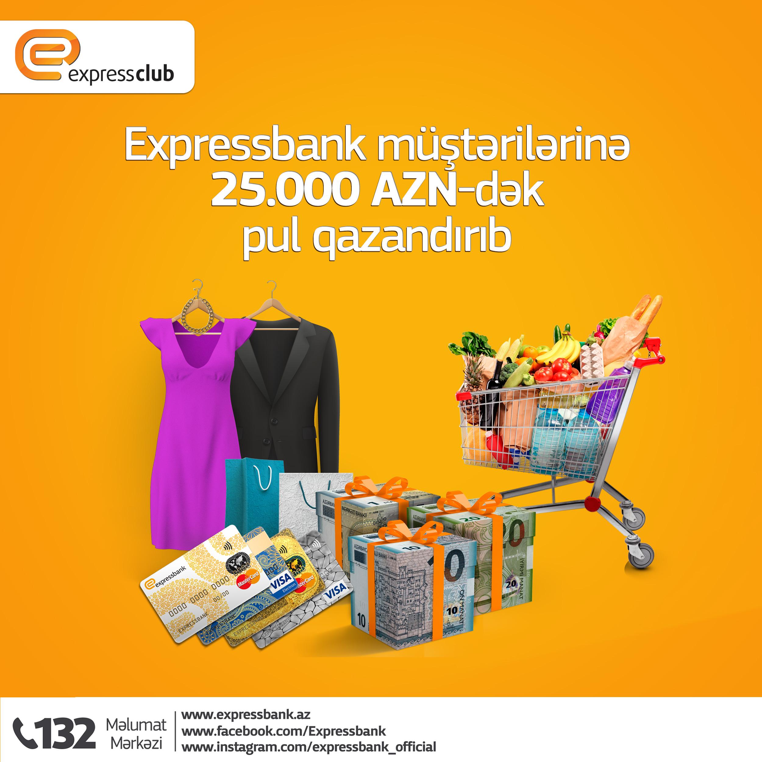 Expressbank müştərilərinə 25 000 AZN-dək pul qazandırıb