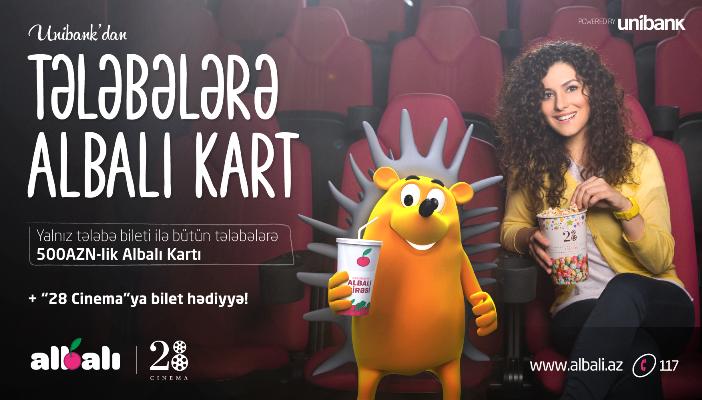 TƏLƏBƏLƏRƏ  HƏDİYYƏLİ  ALBALI  KARTI