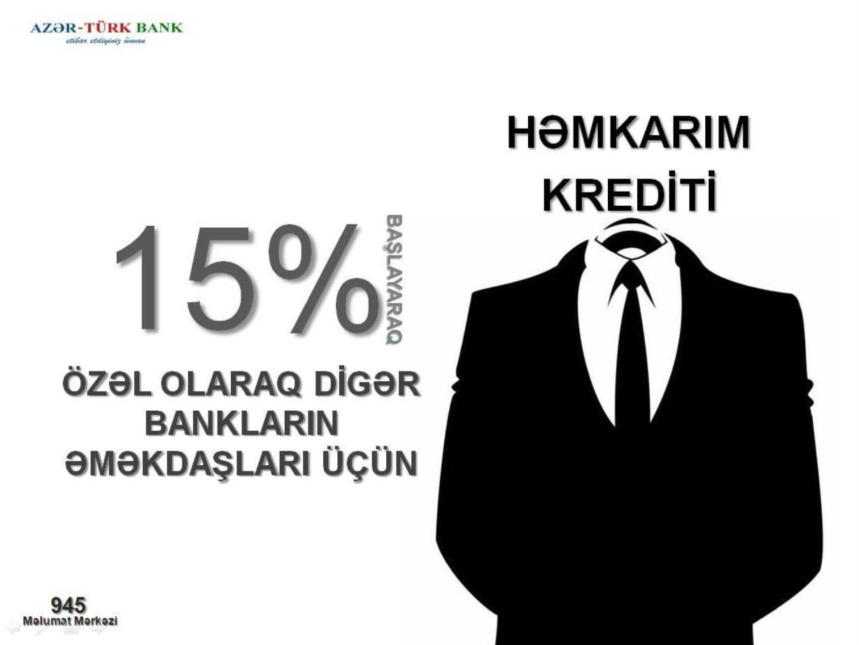 Azər-Türk Bankdan Digər Bankların Əməkdaşlarına Xoş Xəbər!