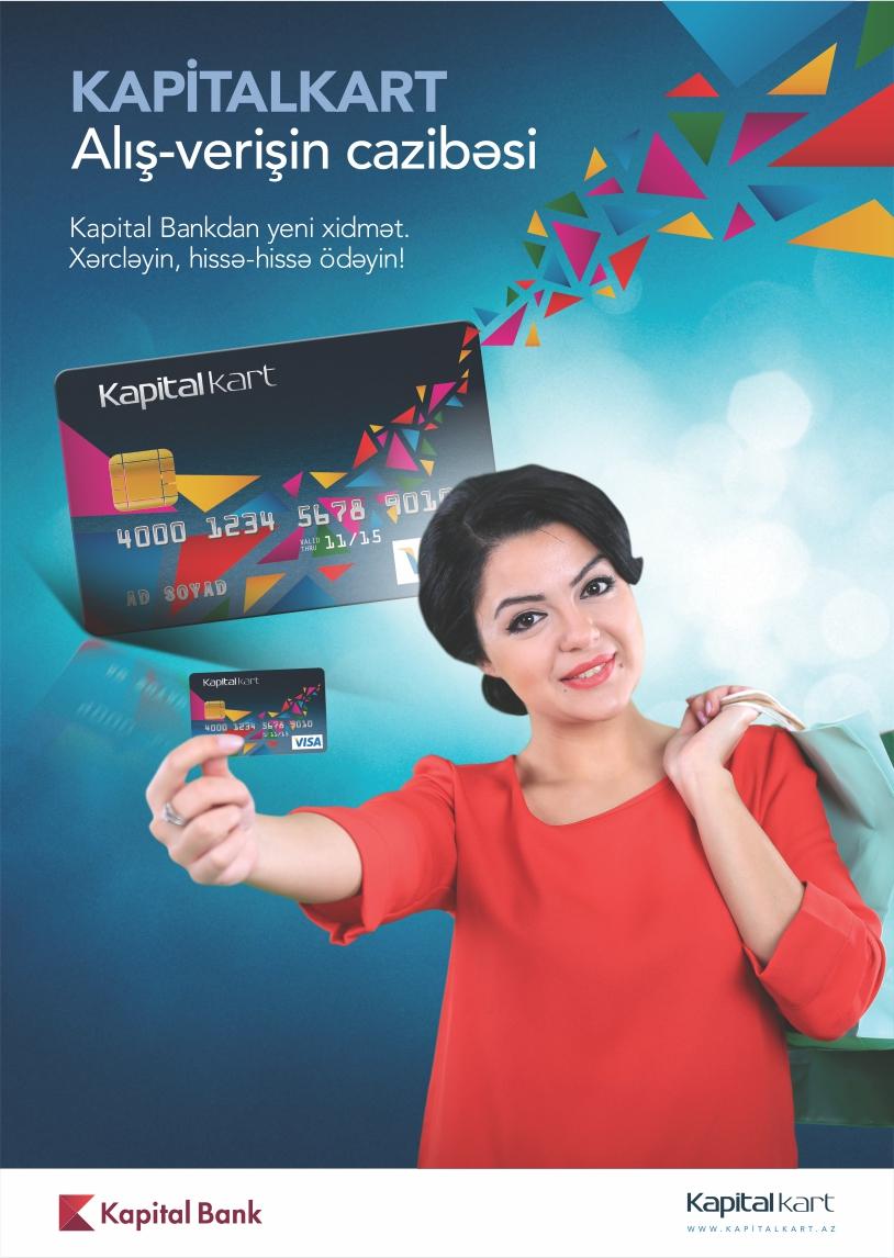 Kapital Bank özünün yeni taksit kartını təqdim edir!