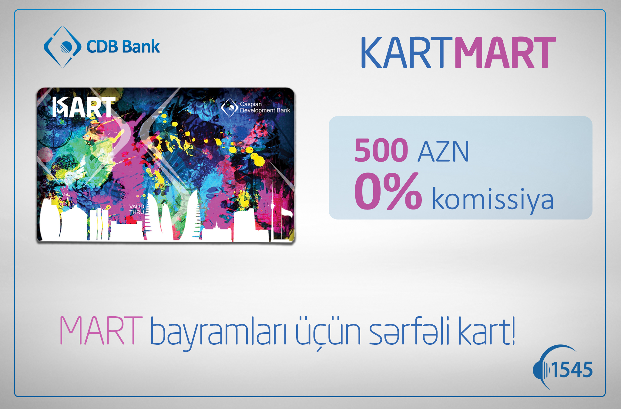 CDB Bankdan Mart bayramları üçün yeni kart!