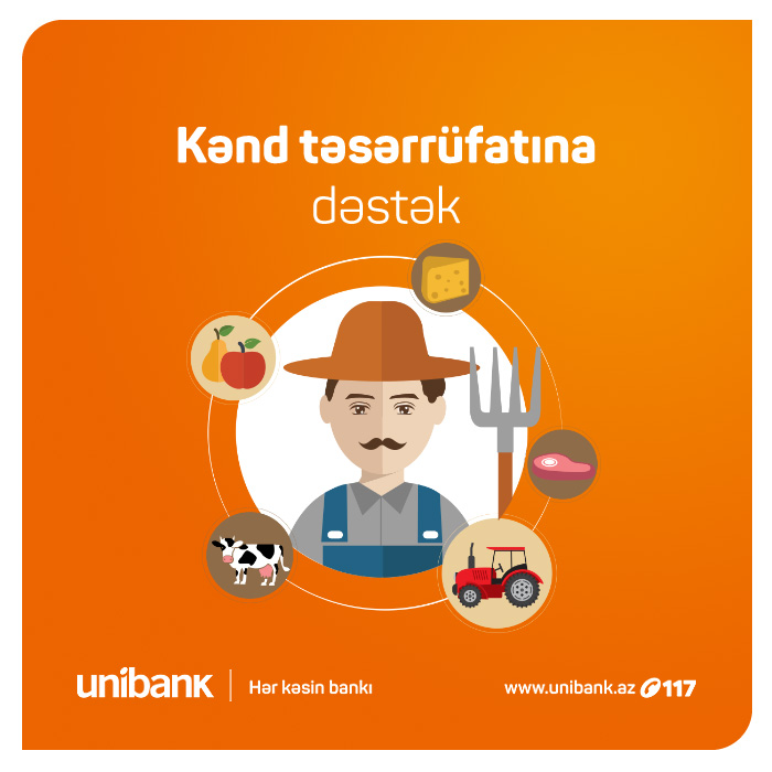 Unibankdan kənd təsərrüfatına  dəstək