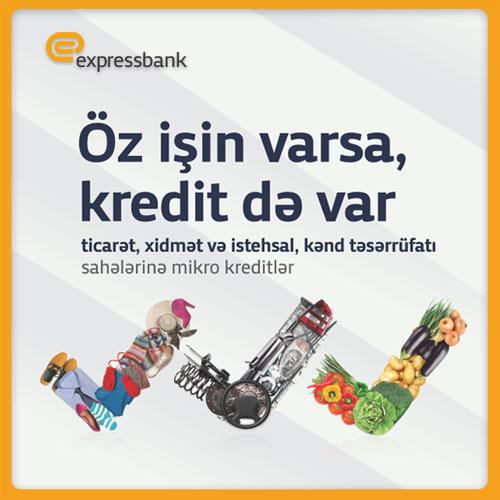 Expressbank 15000 manatadək mikro kreditlər təklif edir