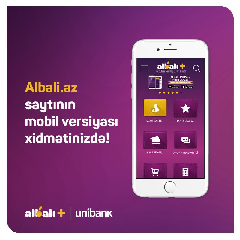 Unibank albali.az saytının mobil versiyasını təqdim etdi
