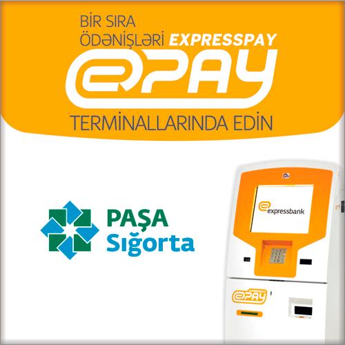 ExpressPay ödəniş terminallarında Paşa Sığorta üzrə ödəmələr əlavə olunub