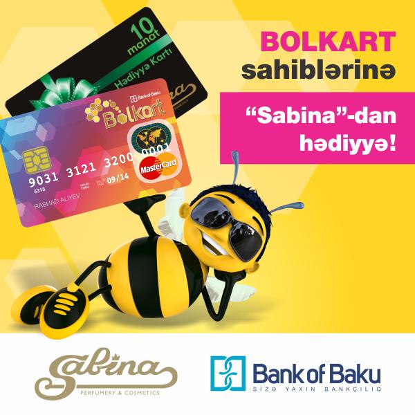 """Bolkart sahiblərinə""""Sabina""""-dan altı günlük hədiyyə fürsəti!"""