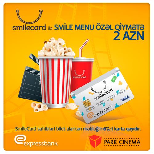 Expressbank-ın SmileCard-ı ilə Park Cinema-da endirimlər əldə edin