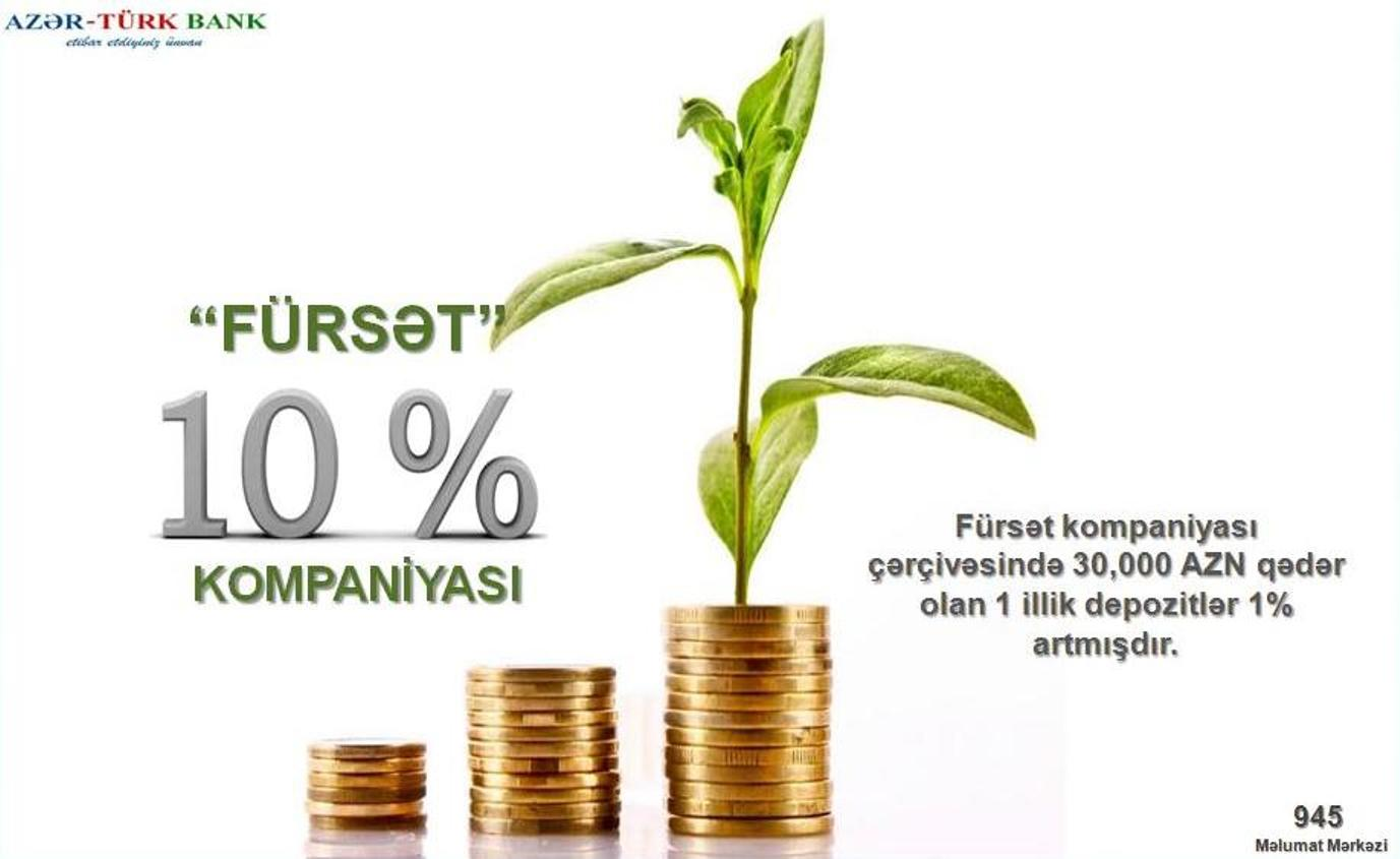 """Azər-Türk Bankdan Əmanətçilərə Yeni Qazandıran """"Fürsət"""" Kompaniyasi!"""