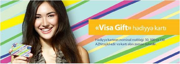 """Azərbaycanda yeni bank məhsulu - """"Visa Gift"""""""