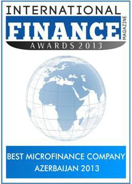 Vision FundAzerCredit удостоилась награды «Самая лучшая микрофинансовая организация» от Международного Финансового Журнала