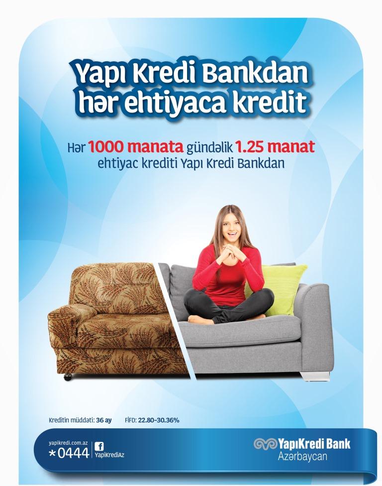 Yapı Kredi Bankdan inkişaf etmək və uğur qazanmaq üçün hər ehtiyaca uyğun istehlak krediti