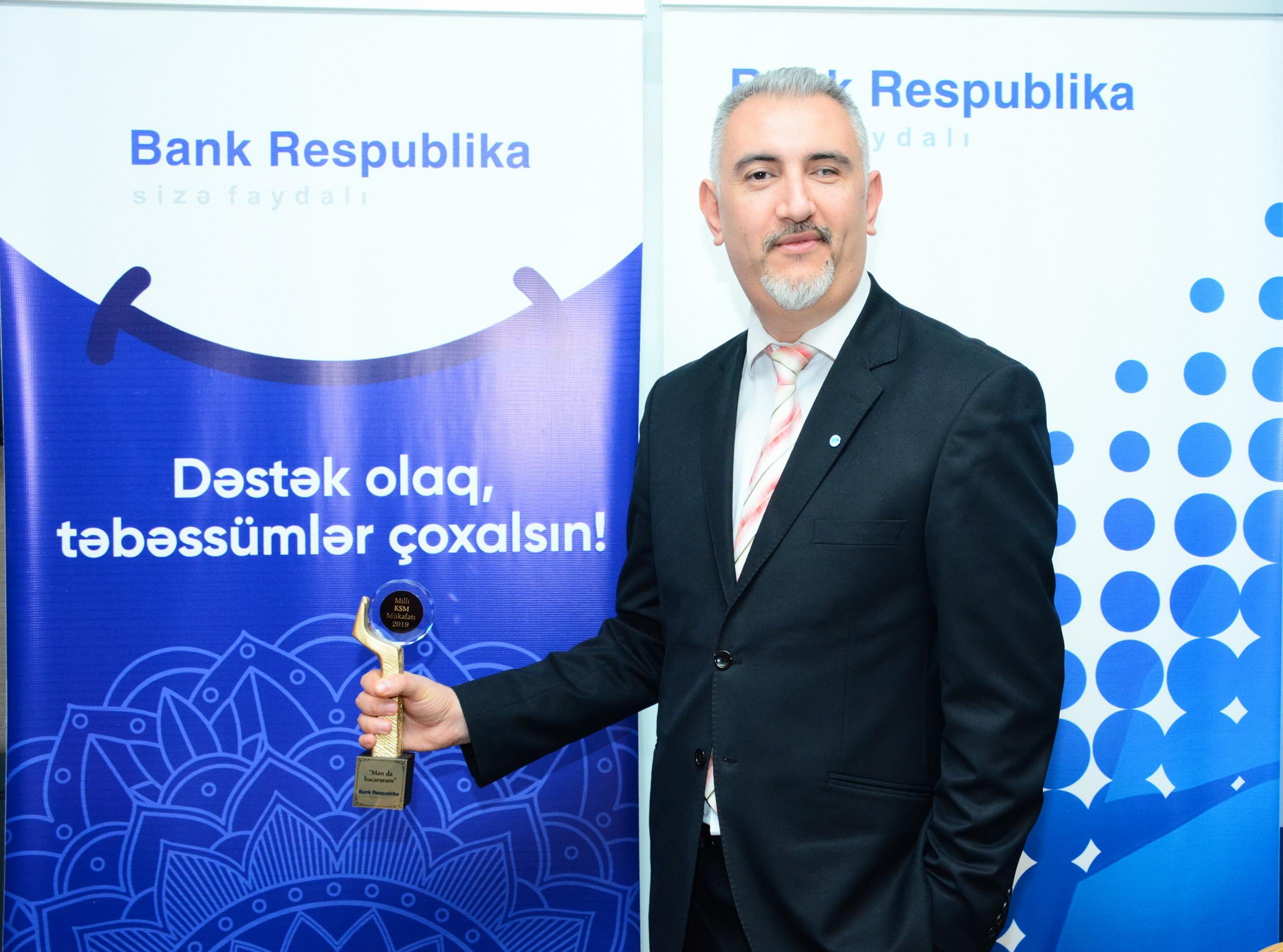 Bank Respublika 2020-ci ildə ilk mükafatını qazanıb!