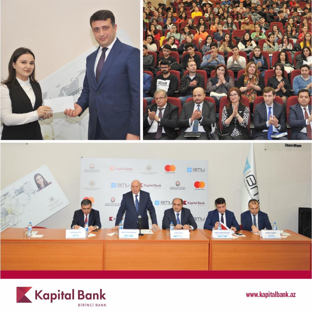 Kapital Bank представил очередному вузу «Студенческие смарт-карты»