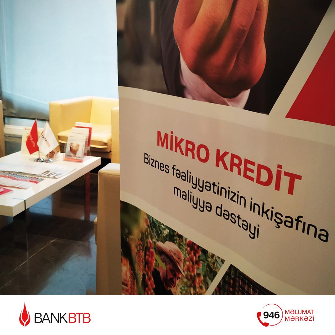 Bank BTB mikro, kiçik və orta sahibkarlığın inkişafına dəstəkdir