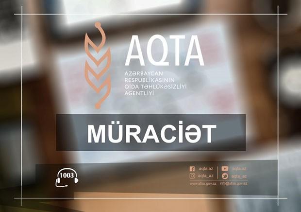 AQTA qida sahəsində çalışan sahibkarlara müraciət etdi