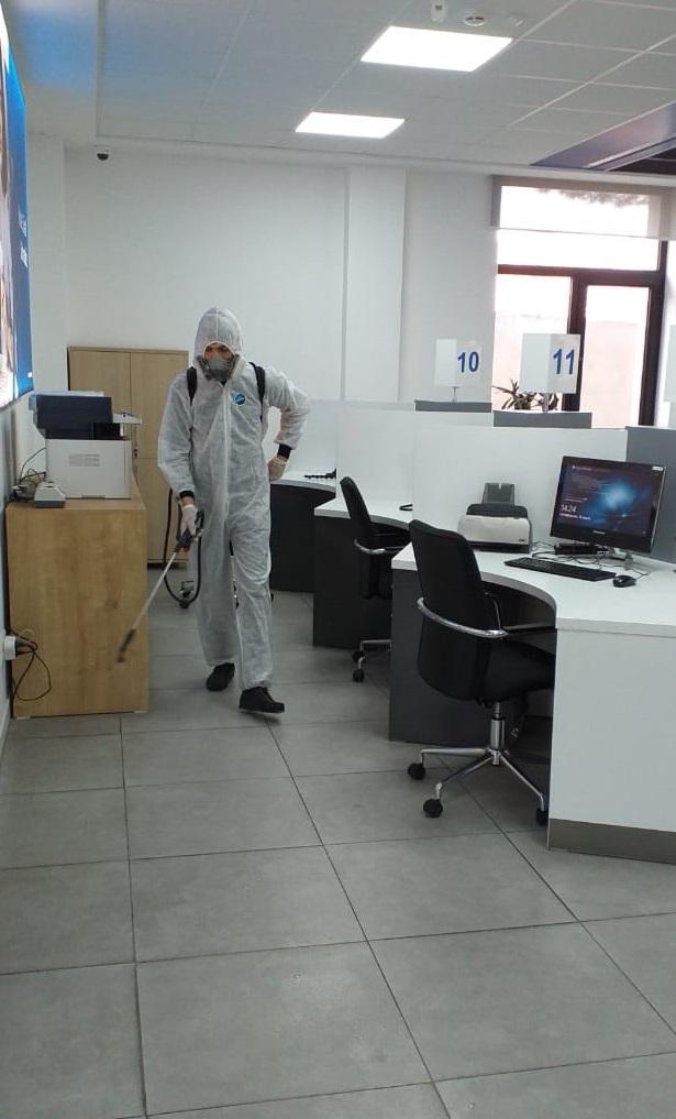 """""""AccessBank"""" продолжает работу по дезинфекции против короновируса"""