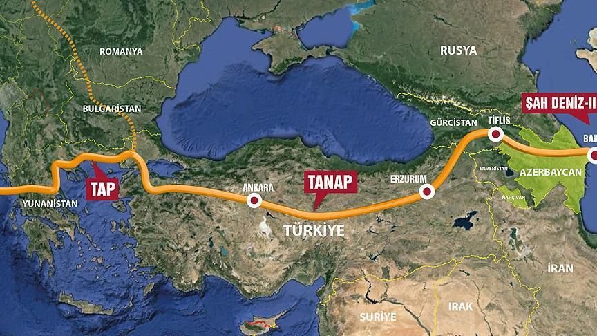 TANAP-la Türkiyəyə nəql edilən qazın həcmi 3 milyard kubmetri ötüb