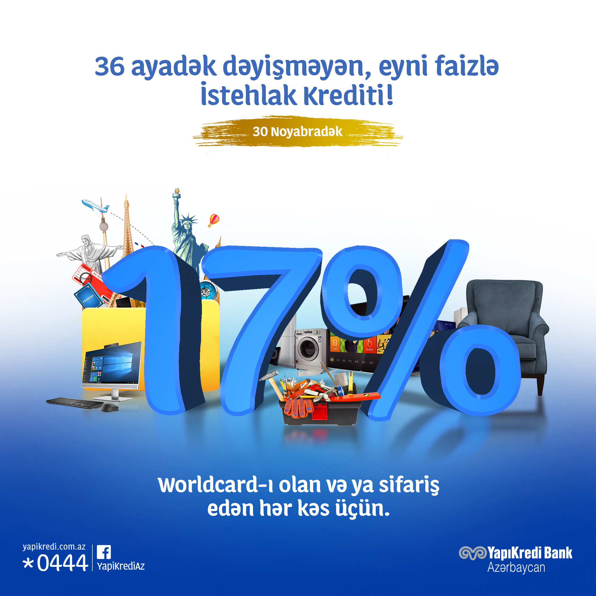 Yapı Kredi Bank Azərbaycan yeni kampaniyaya start verir! ⠀