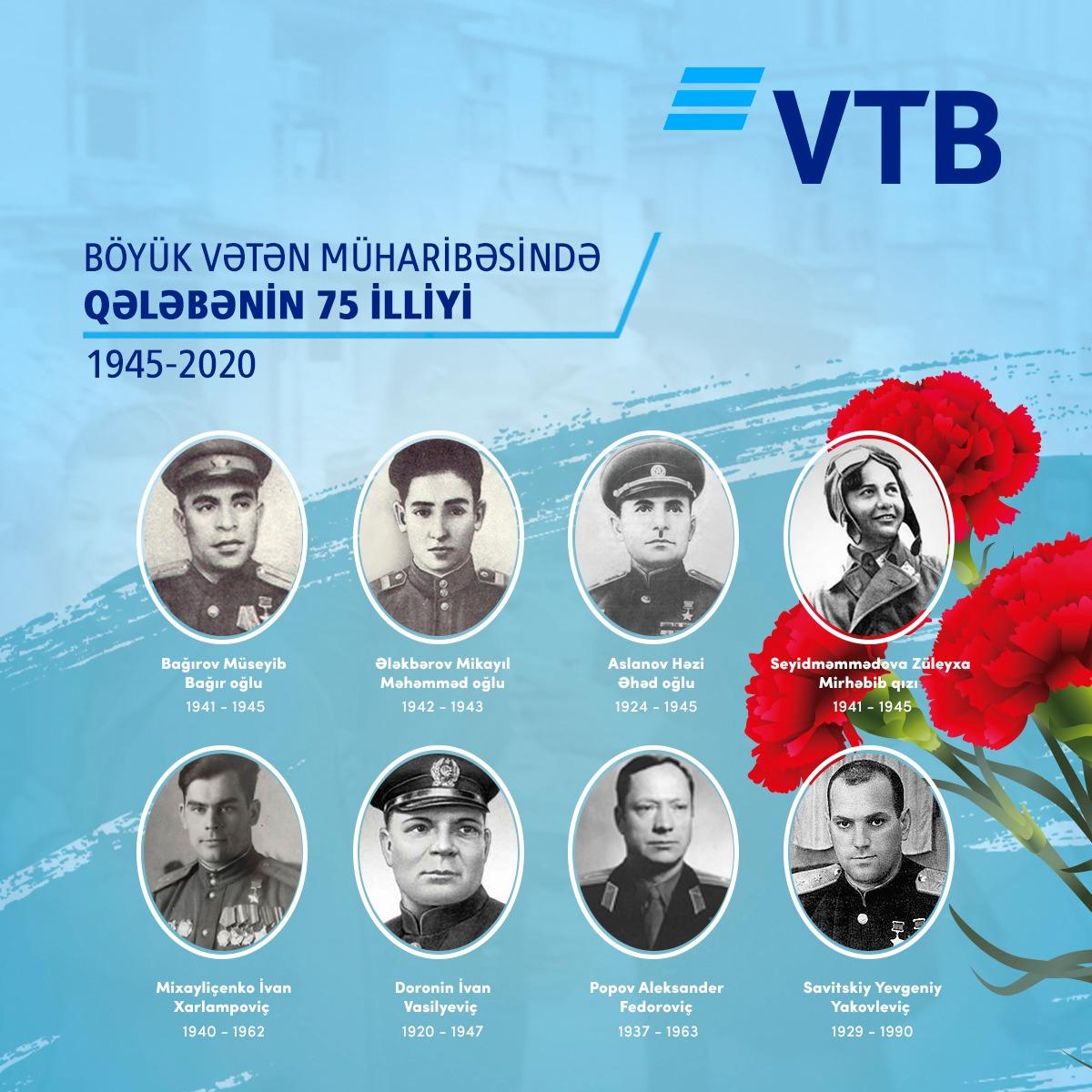Банк ВТБ (Азербайджан) поздравил ветеранов с Днем Победы
