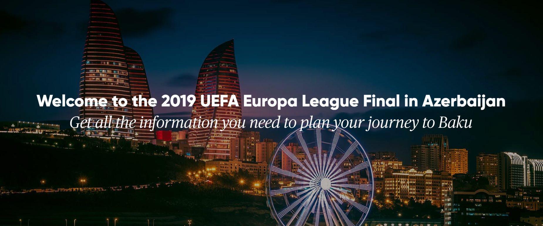 Для приезжающих на финал Лиги Европы в Баку туристов сдан в пользование новый сайт