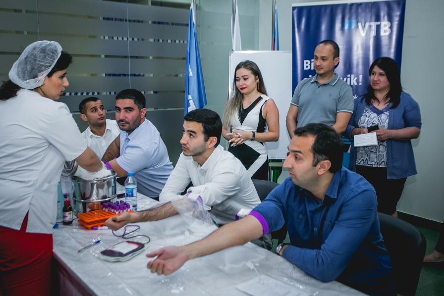 Коллектив банка ВТБ (Азербайджан) провел акцию по сдаче крови