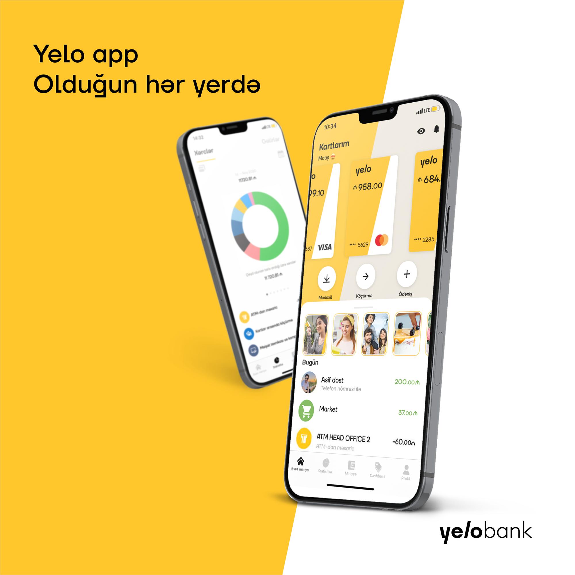 Yelo Bank-dan yeni və parlaq mobil əlavə