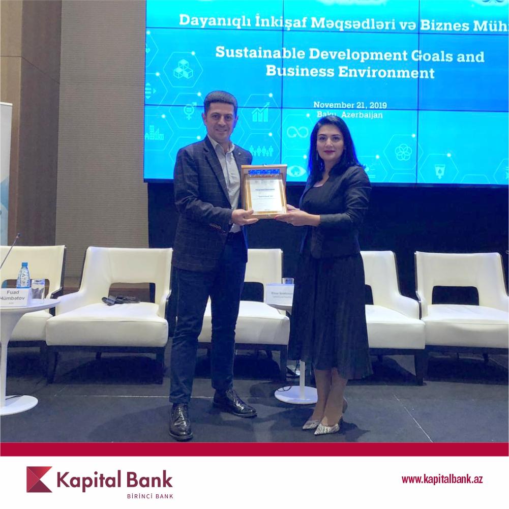 Kapital Bank награжденблагодарственной грамотой за деятельностьв области КСО