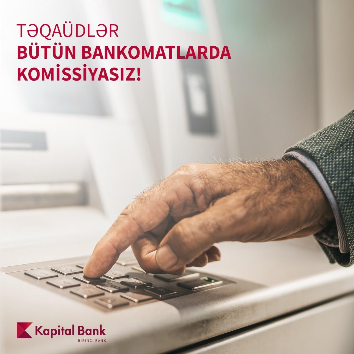 Pensiyaları istənilən bankomatdan komissiyasız nağdlaşdırmaq olar