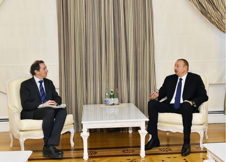 Azərbaycan prezidenti Dünya Bankının vitse-prezidentini qəbul edib