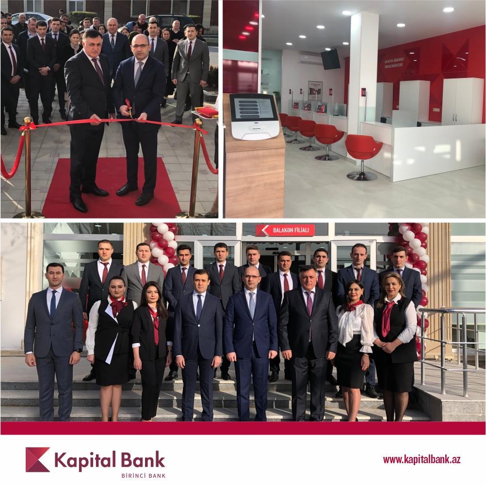 Kapital Bank представил обновленный филиал в Балакене