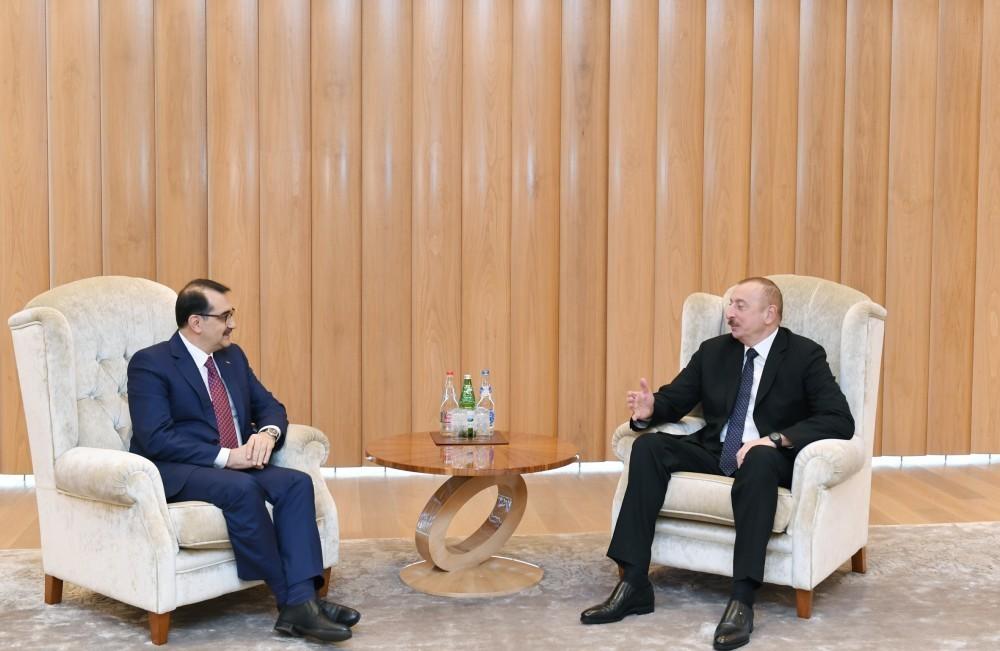 Президент Ильхам Алиев принял министра энергетики и природных ресурсов Турции