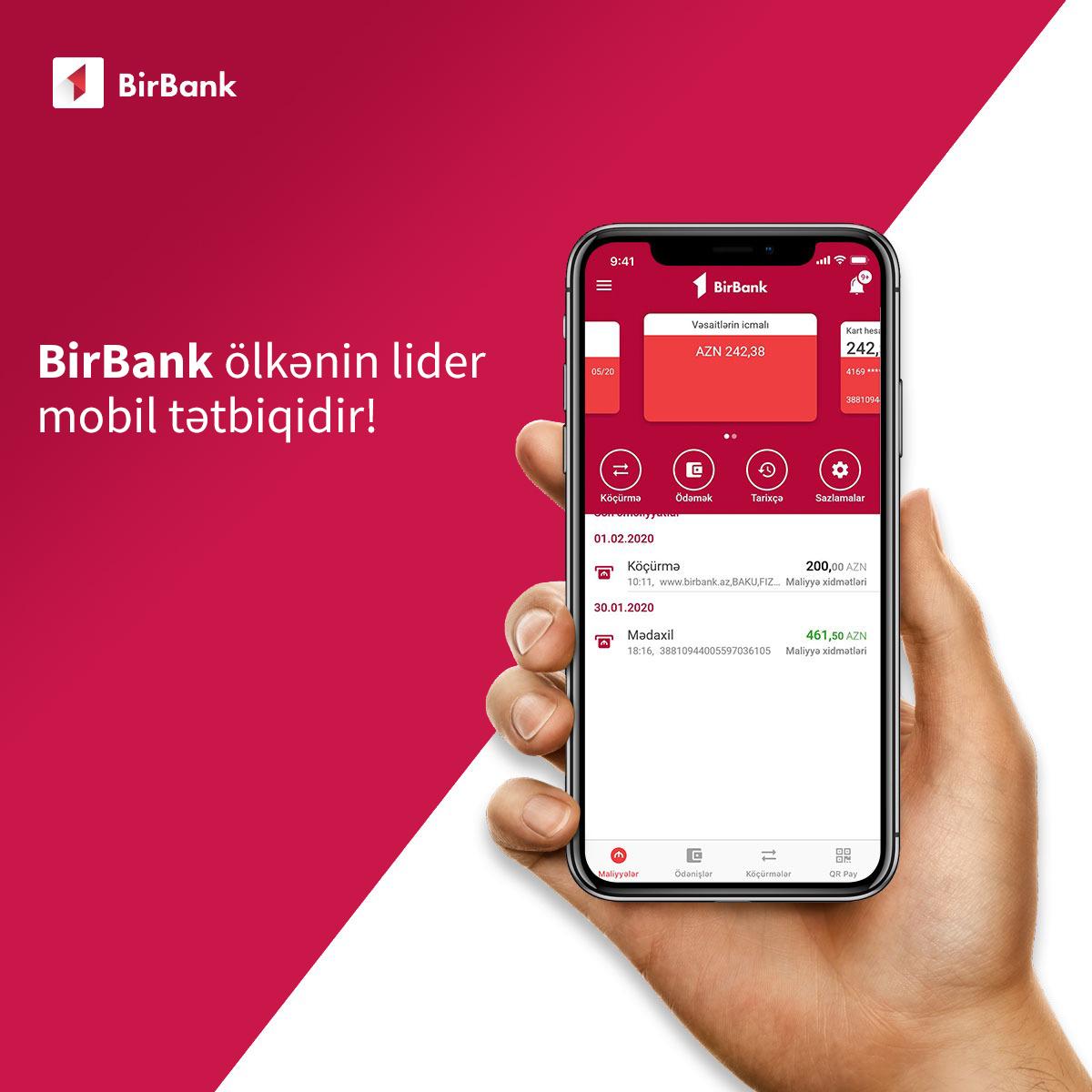 BirBank – лидер среди мобильных приложений страны!