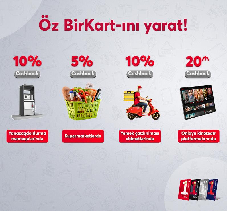 Оформите BirKart онлайн и получите дополнительный кэшбэк