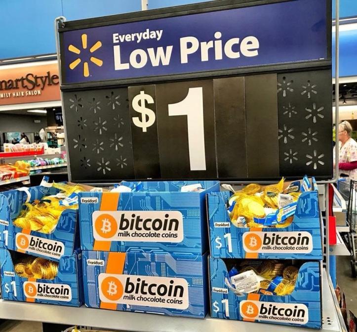 Walmart bitcoin-konfetlərinin satışına başladı