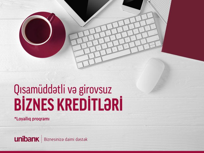 Unibank biznes sahiblərinə girovsuz 100 min AZN-dək kredit təklif edir