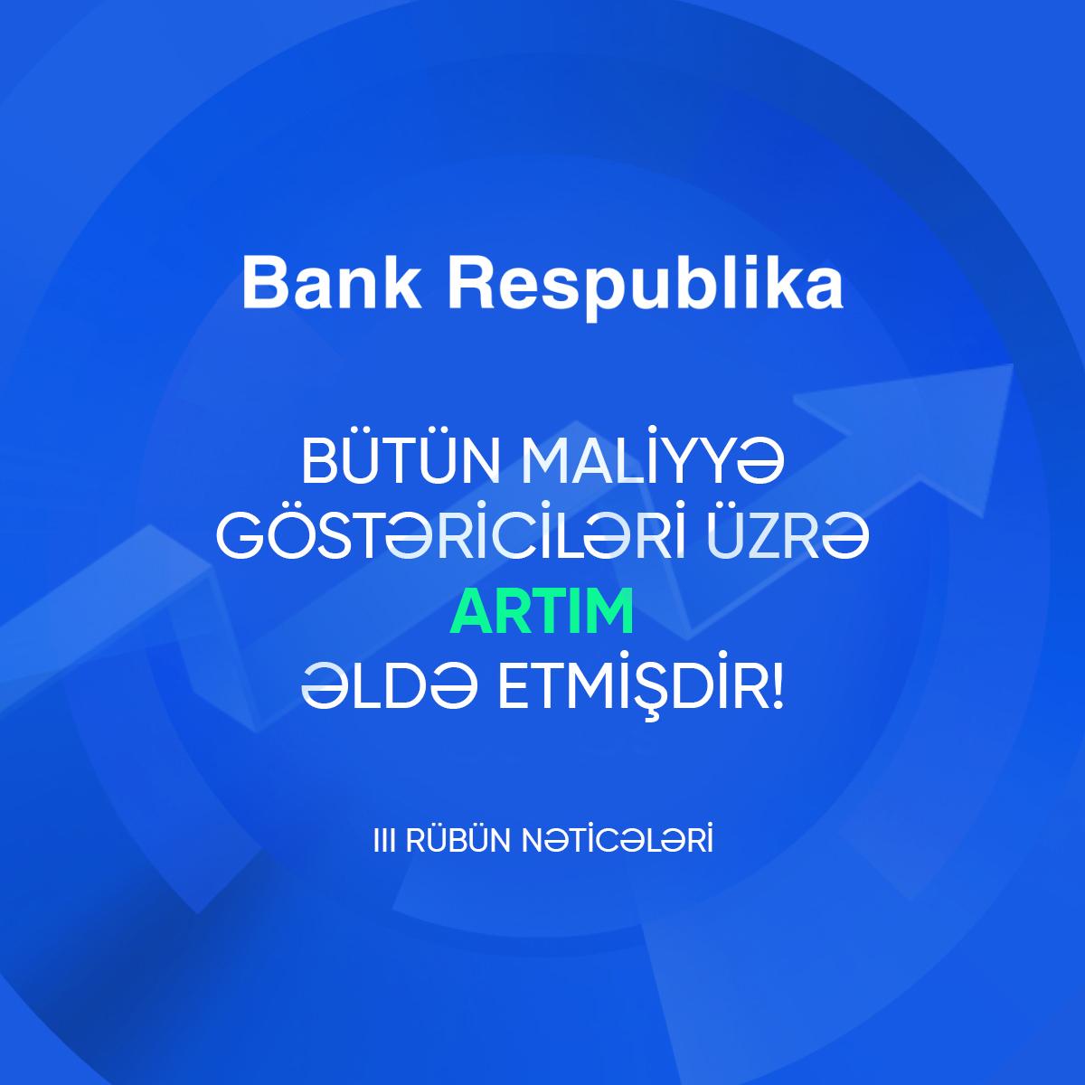 Банк Республика значительно увеличил кредитный и депозитный портфели