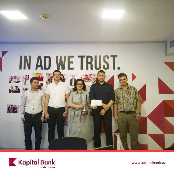 Kapital Bank наградил победителя игр «Брэйн Ринг»