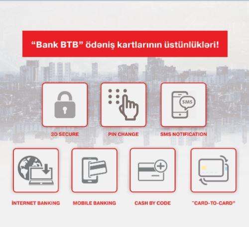 """""""Bank BTB""""nin ödəniş kartlarının üstünlükləri!"""