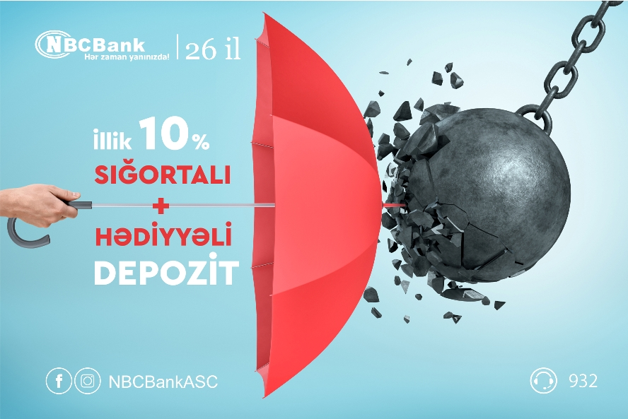"""Sığortalı və Hədiyyəli depozit """"NBCBank""""dan"""